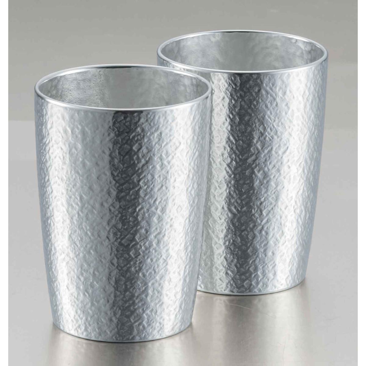 【父の日ギフト】【送料無料】【大阪錫器】錫製タンブラー ベルク 小 2客セット