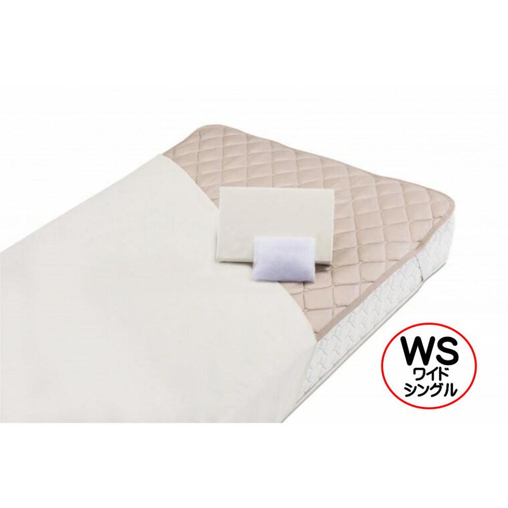 フランスベッド グッドスリーププラス 羊毛3点パック ワイドシングルサイズ【WS】