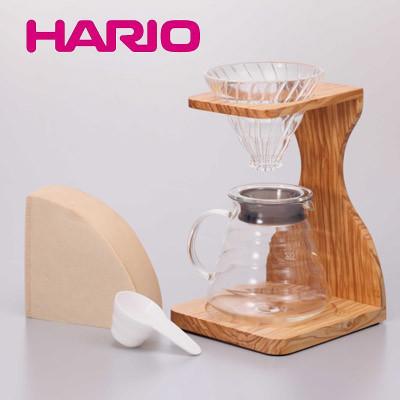 【HARIO】V60オリーブウッドスタンドセット VSS-1206-OV