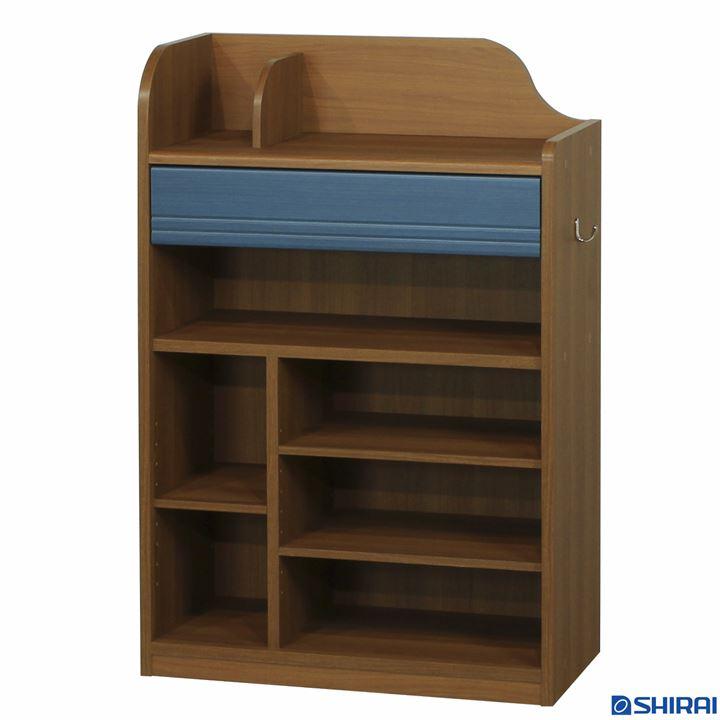 ランドキッズ ランドセルラック(浅型タイプ) ラック 本棚 棚 収納 書棚 ディスプレイ 送料無料