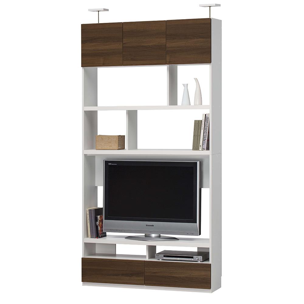 リビュアル 壁面テレビボード テレビ台 棚 本棚 収納 送料無料