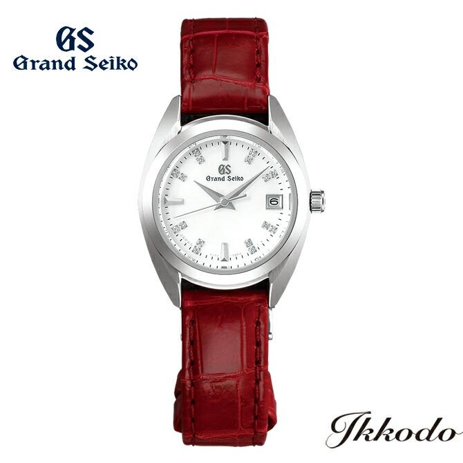 グランドセイコー Grand Seiko 年差クオーツ 4J52 レディスモデル ステンレスケース クロコダイルレザーバンド ダイヤ入り白蝶貝ダイヤル 26.0mm 10気圧防水 正規品 3年保証 腕時計 STGF287