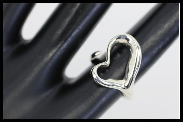 ティファニー エルサ・ペレッティ オープンハートリング スターリングシルバー SV925 10号 新品仕上げ済み 4341QdtrshC