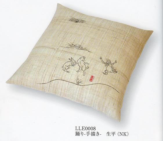 鳥獣戯画 小座布団 [踊り-手書き-] 別注中綿入り 41x43cm
