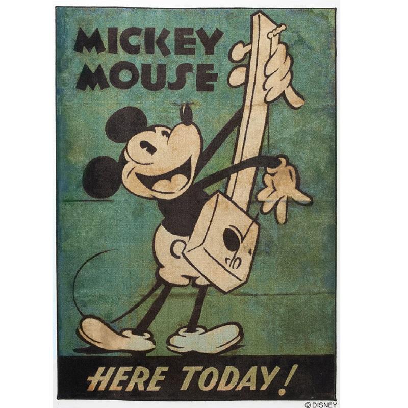 ディズニーホームシリーズ ミッキー ミュージックラグ 約100×140cm スミノエ