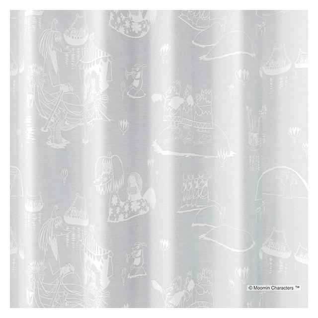 ムーミン カーテン シアー エピック 約100×198cmの2枚組(1窓分) ホワイト/ブルー スミノエ MOOMIN