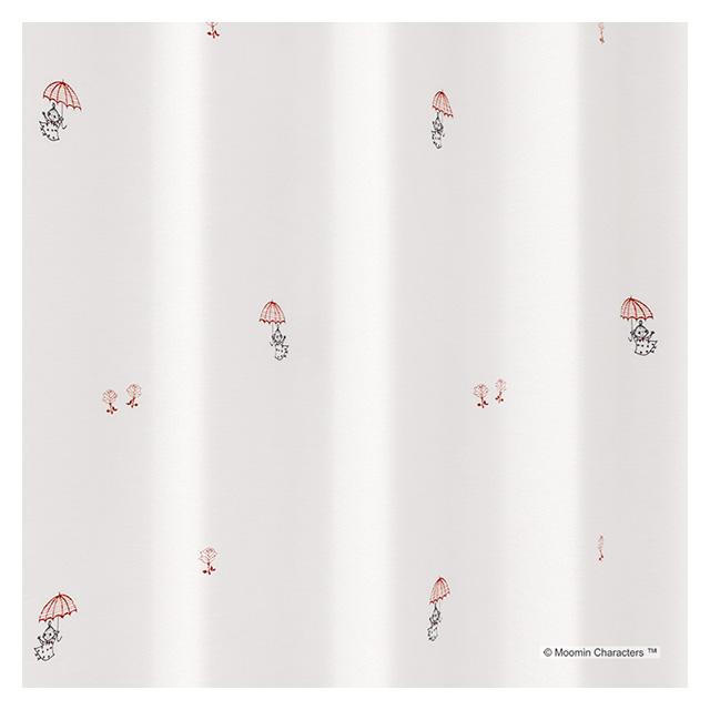 ムーミン カーテン シアー アンブレラ 約100×176cmの2枚組(1窓分) ホワイト スミノエ MOOMIN