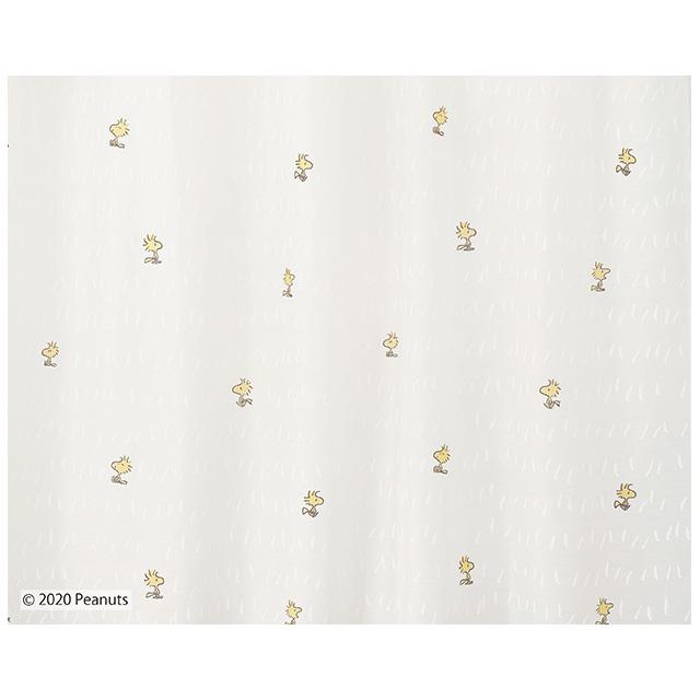 ピーナッツ カーテン シアー チャットウェイボイル 約100×133cmの2枚組(1窓分) ホワイト スミノエ PEANUTS