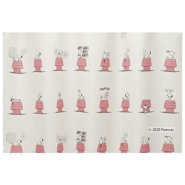 ピーナッツ カーテン ドレープ デイリーライフ 約100×178cmの2枚組(1窓分) レッド/アイボリー/ベージュ スミノエ PEANUTS