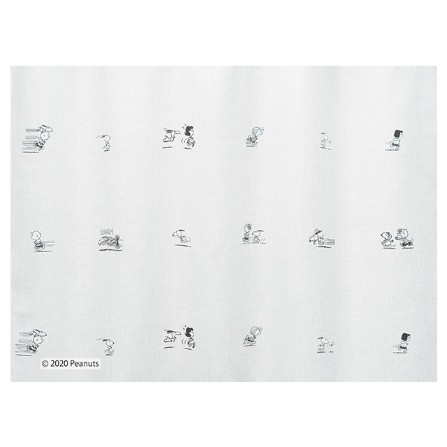 ピーナッツ カーテン ドレープ ランランラン 約100×200cmの2枚組(1窓分)アイボリー/ベージュ/ブラウン スミノエ PEANUTS
