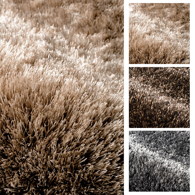 スミノエ 高密度シャギーラグ『ネオグラスNEOGLASS』200x250cm(ベージュ・ブラウン・ブラック)ラグジュアりー&ゴージャス