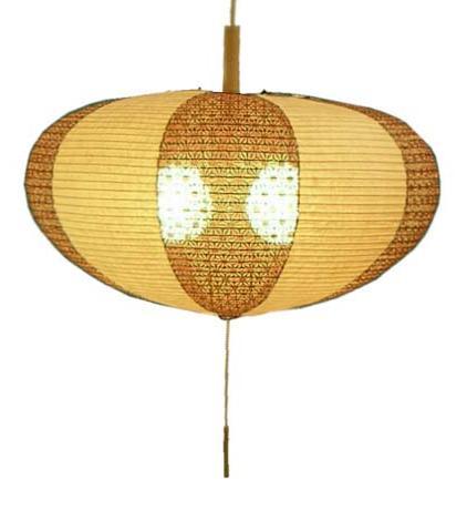 楮紙茶×麻葉唐茶 和風ペンダントライト電球は別売りです