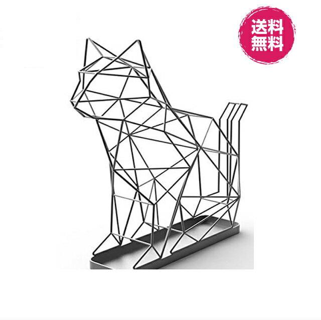シャドーワイヤー キャット UMBRELLA STAND CAT 傘立て ネコの傘立て ネコ オブジェ お洒落 玄関 インテリア オフィス お店 送料無料