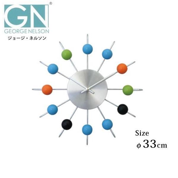 【送料無料・沖縄北海道離島は、除く】GEORGE NELSON(ジョージ・ネルソン) アトミック・ボール・クロック GN1820C 05P03Dec16