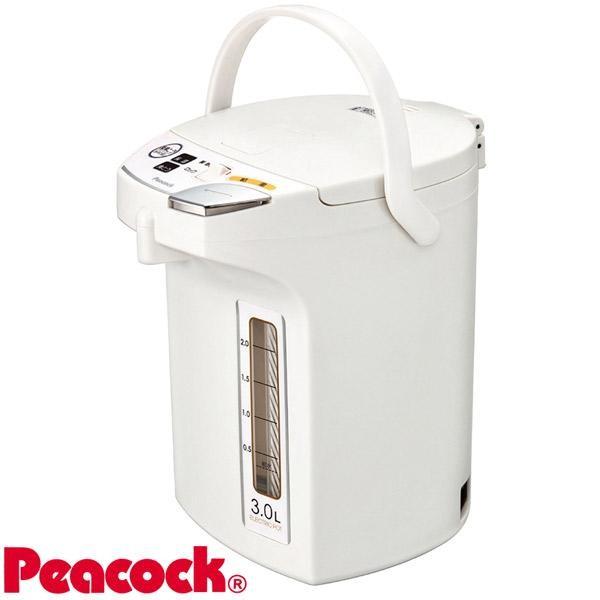 【送料無料・沖縄北海道離島は、除く】Peacock ピーコック魔法瓶 電動給湯ポット(3.0L) WMJ-30 ホワイト(W) 05P03Dec16