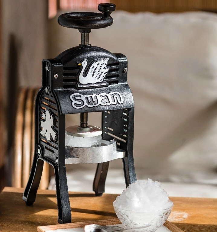 かき氷機 BLACK SWAN 手動式 ブラックスワン 池永鉄工 電動カキ氷機 日本製