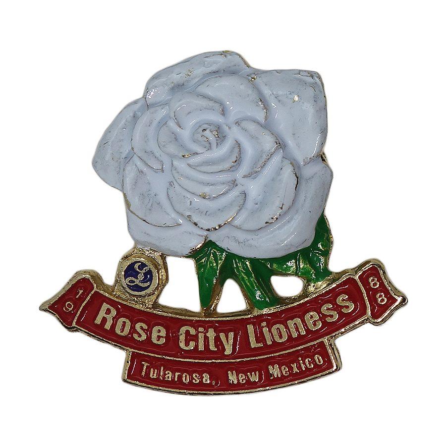 【中古】ピンバッジ ブローチ Rose City Lioness 薔薇 Lions club ライオネスクラブ ビンテージ