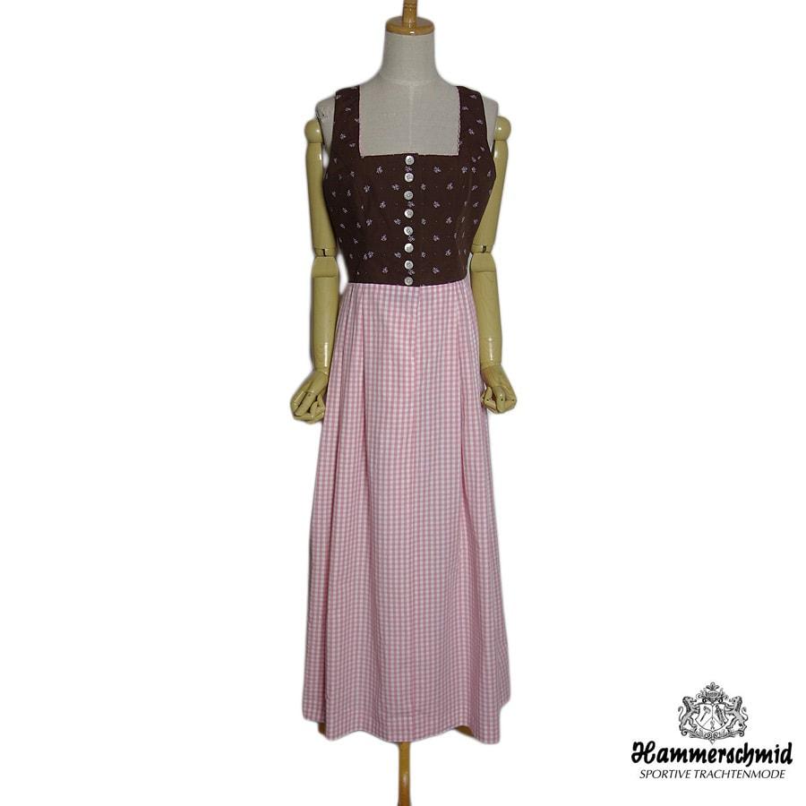【中古】 Hammerschmid ディアンドル ドレス チロル ワンピース レディース サイズM位 ノースリーブ ユーロ 民族衣装 古着 【異国屋】