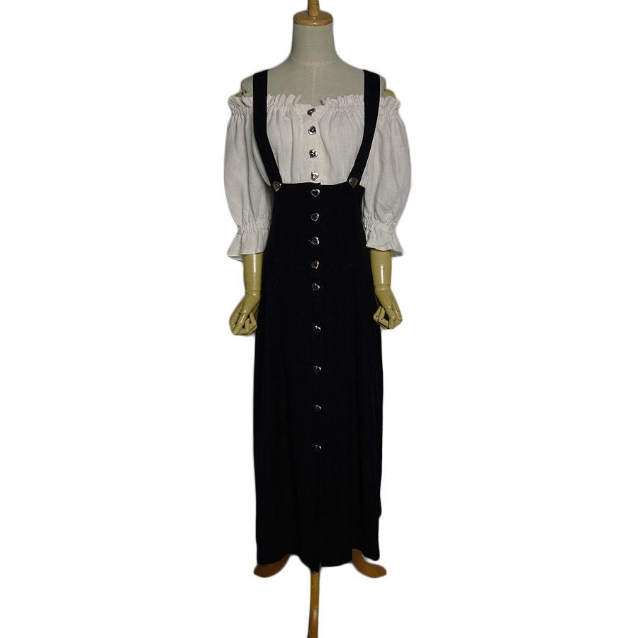 【中古】 オフショルダー チロル ワンピース レディース Mサイズ位 ヨーロッパ 民族衣装 古着 【異国屋】