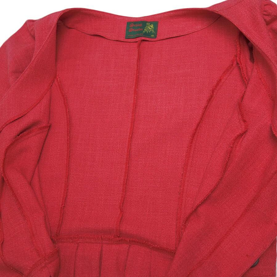 237893c47a5a1 ドイツSchlokStaufenチロルワンピース前開きノースリーブバーバリアン半袖ドレスレディースL位古着民族衣装