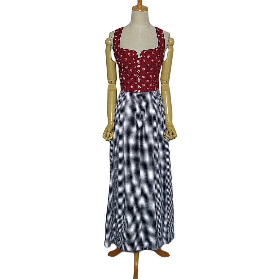 【中古】Daller チロル ワンピース レディースM位 ヨーロッパ古着 民族衣装 ディアンドル