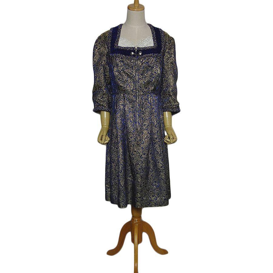 【中古】Ruhpoldinger Dirndl ヴィンテージ ワンピース レディースXL位 ヨーロッパ古着 民族衣装 ディアンドル ドレス チロル