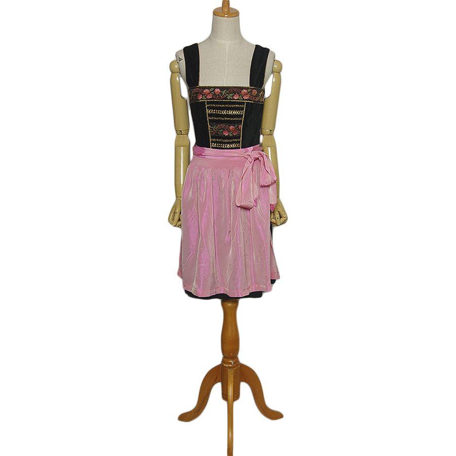 【中古】Lisas Landhaus エプロン付き チロル ワンピース ドレス レディースS位 ヨーロッパ古着 民族衣装 ディアンドル