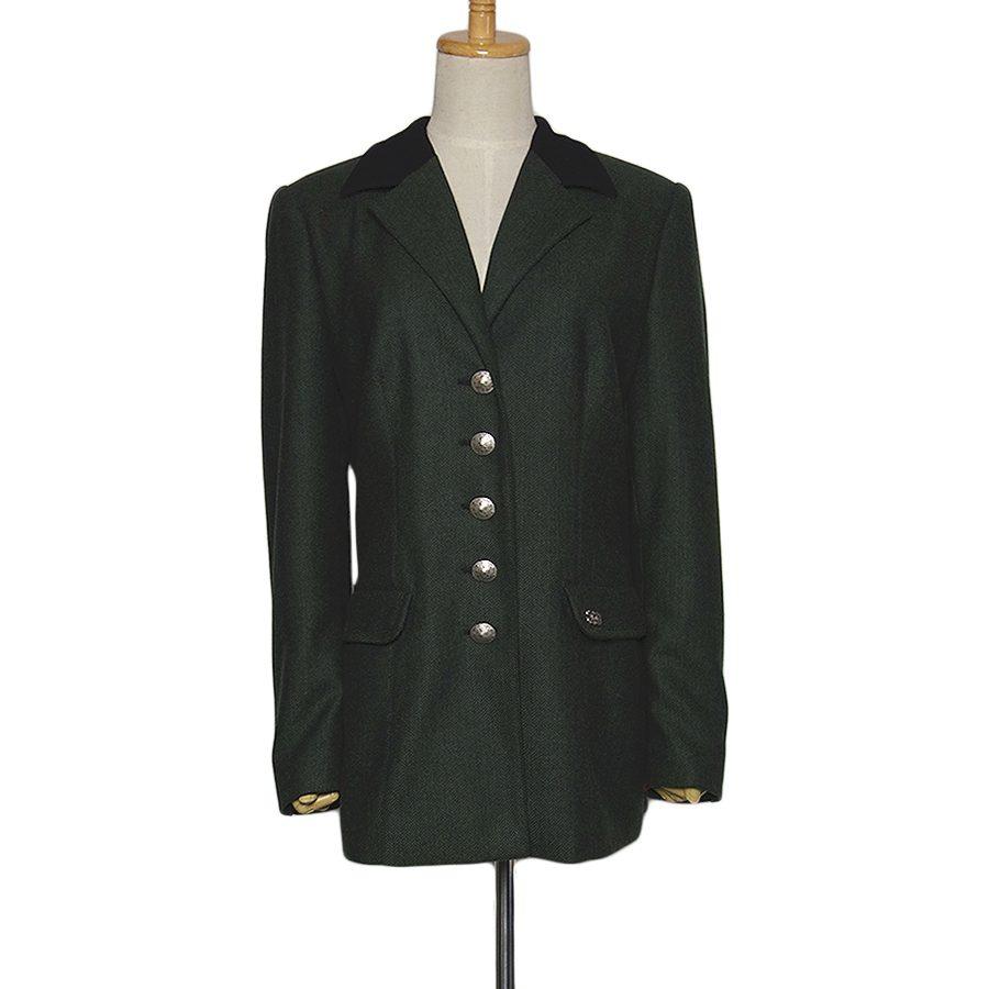 【中古】Moser & Gottlicher ヘリンボーン チロル ジャケット チロリアン レディース Lサイズ位 ヨーロッパ 民族衣装 古着 【異国屋】