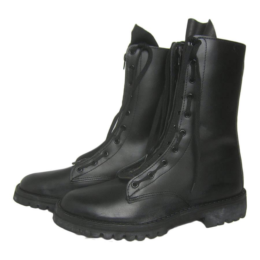 ユーロ ミリタリー ブーツ ジッパー付き 約25.5cm 古着 ユーズド 軍 黒【中古】