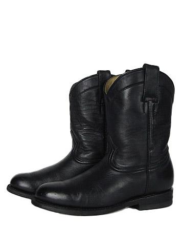 【中古】 La Cabana West総本革 ペコスブーツ 黒色 22.5cm レディース 乗馬 カウボーイ 【異国屋】