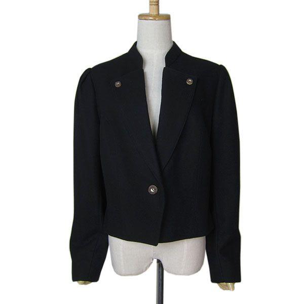 【中古】 Trachten Gerlach チロルジャケット レディースL位 黒色 ヨーロッパ古着民族衣装 【異国屋】
