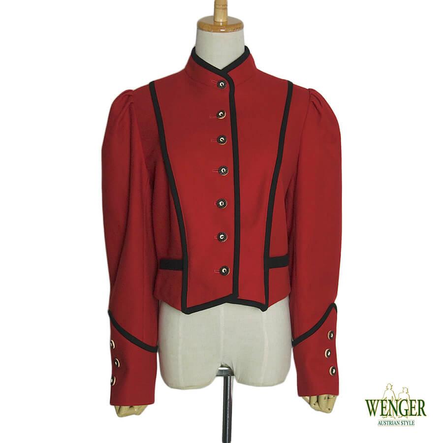 【中古】 Wenger ウール チロル ジャケット レディース Lサイズ位 ヨーロッパ 古着 民族衣装 【異国屋】