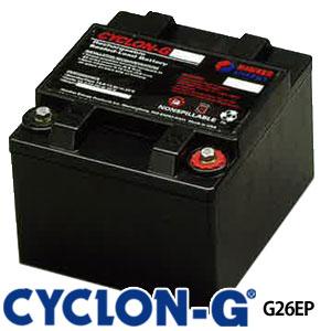 旋风分离器G系列深的周期电池G26EPX enashisu制造(霍克电池)蓄电池