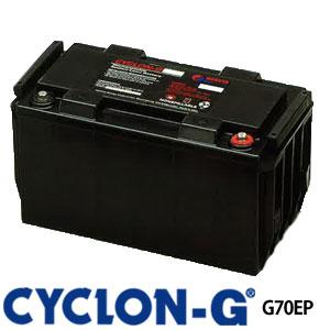 サイクロンG G70EPX メタルジャケット付き ディープサイクルバッテリー エナーシス製 (ホーカーバッテリー) 蓄電池 サイクルサービス バッテリー CYCLON-G BATTERY CYCLONG サイクロンジー オフグリッド 独立電源 バッテリーカー UPS 観測装置 医療 工場 低温 高温 極地