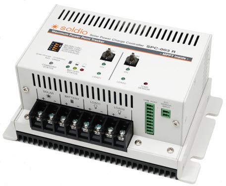 MPPTチャージコントローラー【soldio】 SPC-003R ソーラー発電 太陽光発電用 過充電防止装置 独立電源 オフグリッド ソーラー