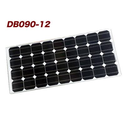 電菱製単結晶ソーラーパネル DB090-12 定格出力 92W DC12V系太陽電池 太陽光発電 太陽光パネル 独立電源 オフグリッド 街路灯、仮設トイレ灯、道路標識、キャンピングカーなどの電源として
