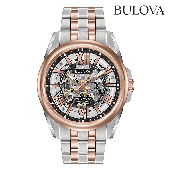 ブローバ オートマチックBULOVA AUTOMATIC98A166正規品 機械式(自動巻き) 腕時計