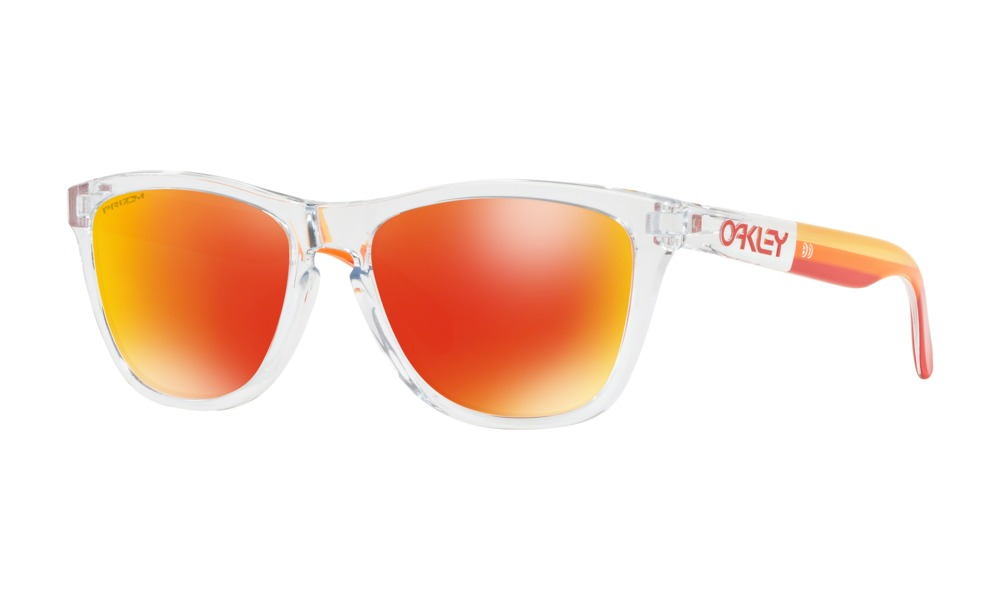 OKLEY オークリー Frogskins フロッグスキンズ OO9245-7354 Polished Clear ポリッシュド クリア Prizm Ruby プリズム ルビー 正規品