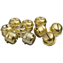返品送料無料 装飾材料 装飾 クリスマス 鈴 即出荷 金色 10個 特大