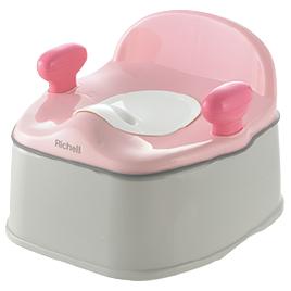 流行のアイテム おまる トイレ用品 リッチェル イス型おまるK ポッティス 贈与 ピンク