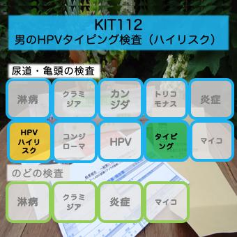 【送料無料】KIT112 アイラボ「男のHPVタイピング検査(ハイリスク)」【あす楽対応】検査項目:ハイリスク型HPVタイピング、炎症