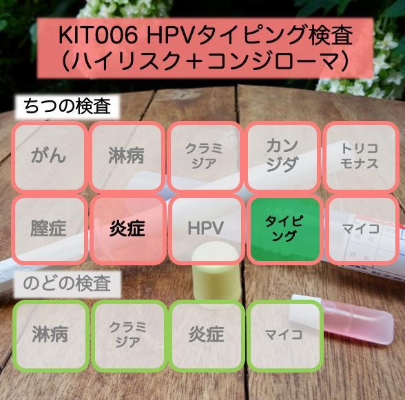 【送料無料】KIT006 アイラボの「HPVタイピング検査(ハイリスク+コンジローマ)」【あす楽対応】検査項目:コンジローマHPV2種類、ハイリスクHPV13種類のタイピング検査