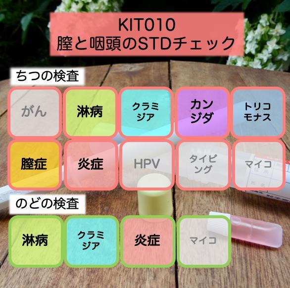 【送料無料】KIT010 アイラボの「膣と咽頭のSTDチェック」【あす楽対応】