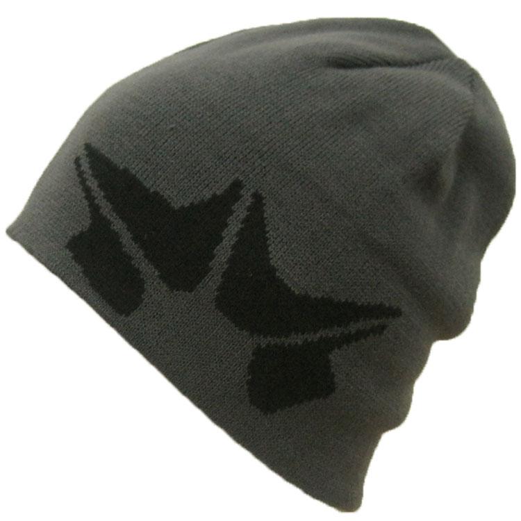 Rohm immunoblotted knit Cap (ROME SDS) knit Cap knit hat reversible hats  snowboard snowboarding logo   Black Black   gray gray   olive green Beanie  men s ... f9956525dfc