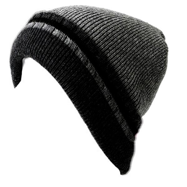 ea252a05017988 ilandwig: Hat knit knit hat Island (I ' LAND) knit Cap Kamon snowboard ski  border fleece thick / grey grey Beanie Men's men's (for men) and women's ...