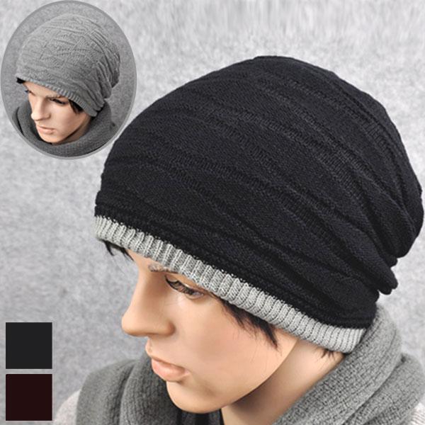 8ad5b97f568c81 Hat knit knit hat Island (I ' LAND) knit reversible hat snowboard ski line  ...
