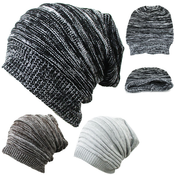 cf1694d7e9b571 Large Hat Cap Island (I ' LAND) knit hat snowboard ski size border simple  ...