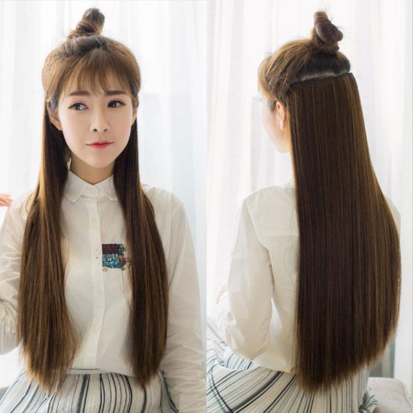 Ilandwig Wigs Extensions Heat Long Straight 25 Cm 60 Cm Black