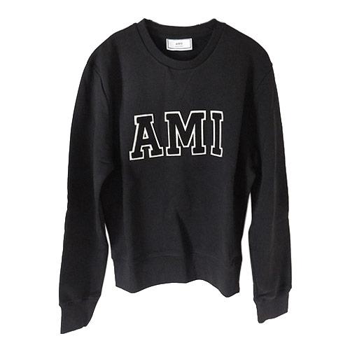 アミ アレクサンドル マテュッシ スウェット H17J024 730 001/BLACK AMI ALEXANDRE MATTIUSSI トレーナー メンズ コットン ブラック【I LOVE BRAND/】【gift_d18】