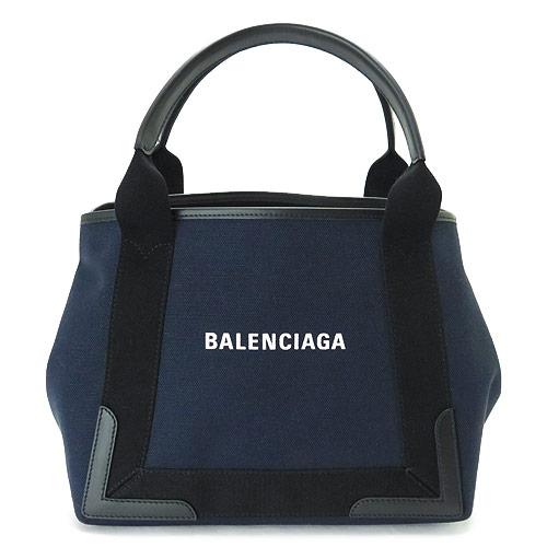 バレンシアガ ハンドバッグ BALENCIAGA キャンバス ブルーマリン ネイビー 339933 K9H1N 4065/BLEU MARINE